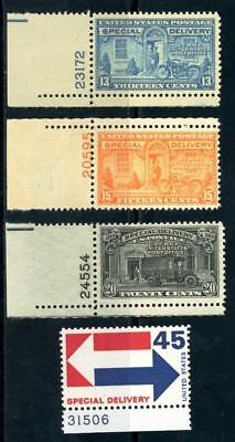 USAstamps Unused US Special Delivery Scott E17 / E22 OG MNH With Plate #