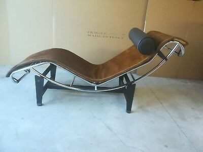 Chaise longue in pony marrone