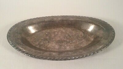 Vintage Wm Rogers Silver Plated Oval Tray 12.5 X 7""