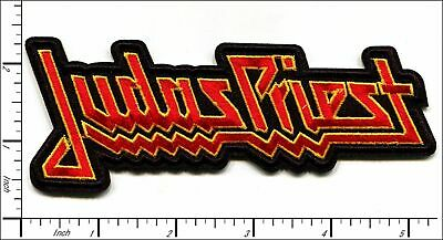 """JUDAS PRIEST heavy metal band embroidered iron on patch 5""""x2"""""""