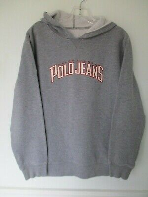 Ralph Lauren Polo Jeans Boy's XL Long Sleeve Solid Gray Hoodie