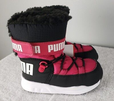 b0990a907c11ce Youth Kids Puma Infant Toddler Trinomic Snow Boot Sneaker 363979-03 Pink