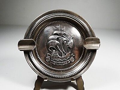 Ashtray Portuguese Caravel Lusitanos - Sterling Silver 925 - Portugal - 1950