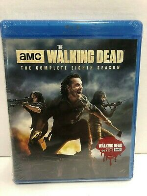 The Walking Dead: The Complete Eighth Season (Blu-ray Disc, 2018) New !