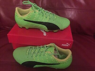 8320a315933d Puma Evopower Vigor 3 Lth AG Green-Black-Yellow Football Boots Size UK 8.5