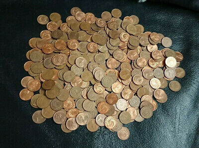 One Cents X 362 Coins  - Mixed Dates & Grades - New Zealand - Unsorted Lot