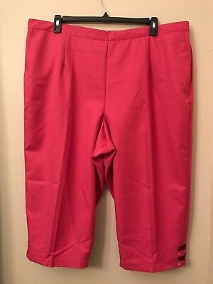 ba243e644f8 NWT Alfred Dunner Women s Plus 24W Hot Pink Elastic Waist Classic Pull On  Capris