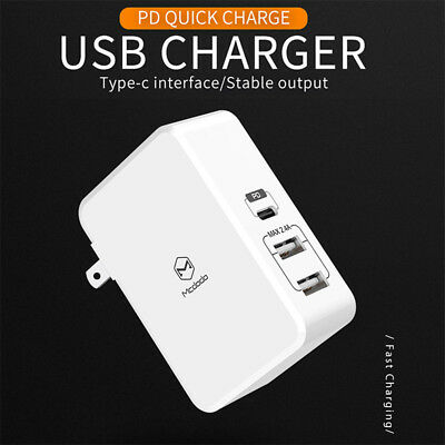 Mcdodo USB-C Type-C to Lightning PD Fast Charging Cable Quick Wall Charger BDAU