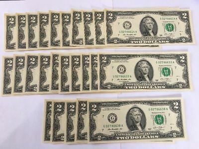 💰 1976-2013 💰 Lot NEW LUCKY Two Dollar Bill Uncirculated Crisp RARE $2