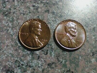 1960 P/D Lincoln Memorial Cent Penny Toned  LARGE SMALL DATE?