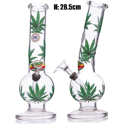 MWP Large Bent Bubble Leaf 28.5cm Hookah Glass Bong Water pipe Smoking Tobacco