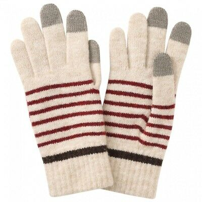 MUJI Wool blend Gloves Brushed back Sand Beige Touch panel OK 23 X 8.5 cm MoMA