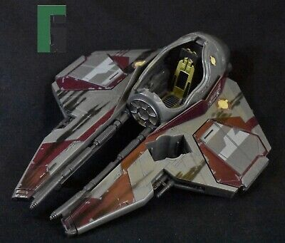 2004 Star Wars Obi Wan Kenobi Jedi Starfighter Revenge of the Sith-AS IS