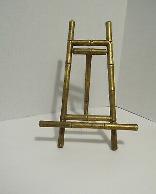 """Faux Bamboo Mid Century Modern Photo or Painting Easel Hollywood Regency 12"""""""