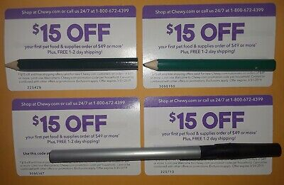 CHEWY.COM COUPONS $15 OFF $49 (x4)