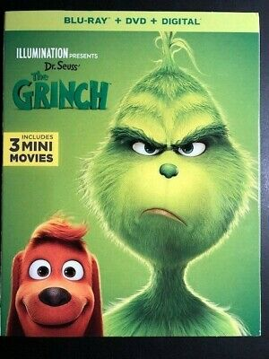 The Grinch (Blu-Ray/DVD/Digital 2 Disc 2019)