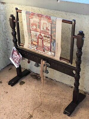 Antique Vintage Wooden Tapestry Rug Sewing Craft Loom