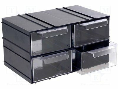 Set with drawers; Drawers no.in module:4; 230x142x125mm (1 pcs)