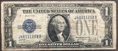 USA 1 Dollar 1928 B Silver Certificate One Banknote Schein Funny Back #11952