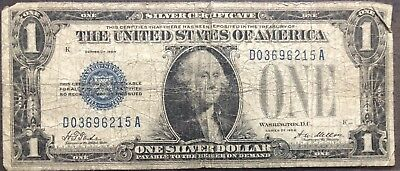 USA 1 Dollar 1928 Silver Certificate One Banknote Schein Funny Back #11946