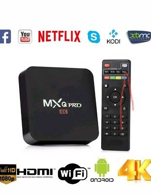 Smart TV BOX MXq Pro Android Mini PC Quad Core WiFi 2Gb 16Gb 4K*2K 1080P IPTV