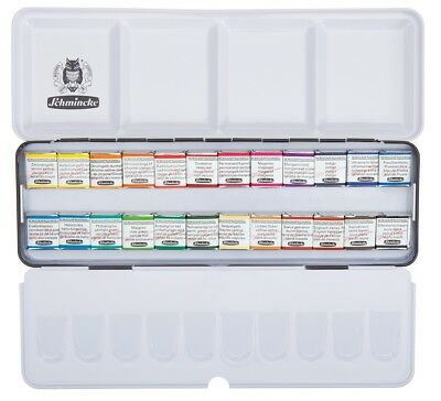 Watercolor HORADAM Schmincke - box of 24 colori (1/2 godet) 74424