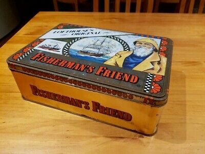 Collectible Fisherman's Friend Tin - Very Large - Good Condition