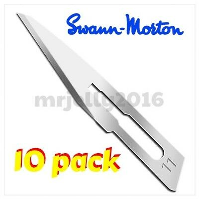 Swann Morton Red Box Sterile Scalpel Blades No.11 - 10 Pack