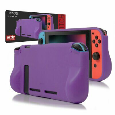 Orzly Comfort Grip Case for Nintendo Switch - Purple