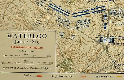 MAP/BATTLE PLAN WATERLOO SITUATION JUNE 18th 1815 11:15am TROOP POSITIONS