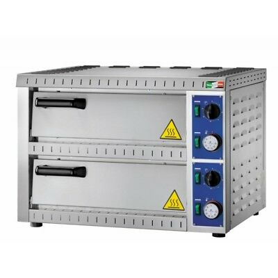 OVEN ELECTRIC FOR PIZZERIA DOUBLE CHAMBER mod.B1+1 for 2 PIZZAS