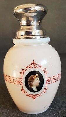 Paris Portrait Medaillon Tea Caddy with silver lid French Empire 1800s