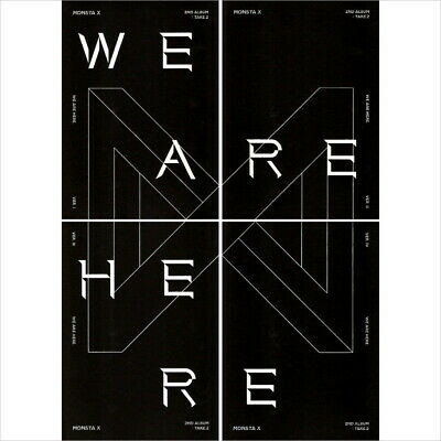 Monsta X-[Take.2 We Are Here] 2nd Album Random CD+KPOP Poster+Book+Etc+Tracking