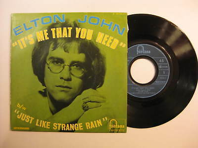 Elton John It's Me That You Need RARE FRANCE single with sleeve 1969