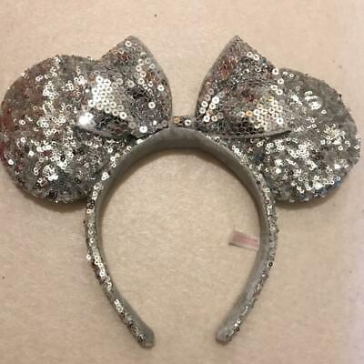 Tokyo Disney Resort Hair Band Head Band Minnie Mouse Sequin White Japan F/S