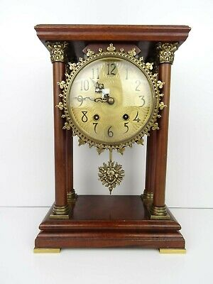Warmink Dutch Vintage Mantel Pillar Clock Wuba Shelf 8 day REPAIR (Junghans era)