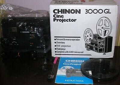 CHINON 3000GL DUAL 8 Super 8 / Reg 8mm PROJECTOR ADJUSTABLE SPEED ~SERVICED~