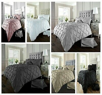 Luxurious Stylish Alford Pin-tuck Duvet / Quilt Cover Set Bedding Sets All Size