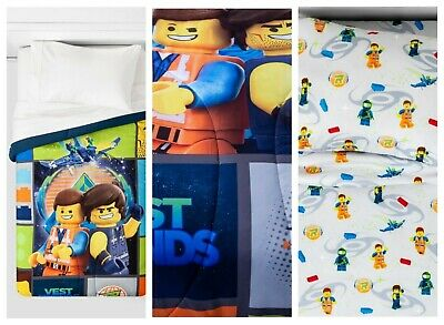 LEGO MOVIE 2 FULL BEDDING Comforter w/4Pc Full Sheet Set~BED IN A BAG
