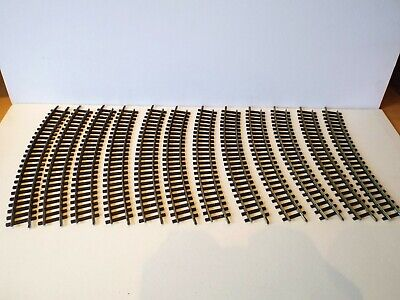 "K76 HORNBY DUBLO 2710 OO 2 RAIL 12 X CURVED RAILS 15/"" RAD UNBOXED"