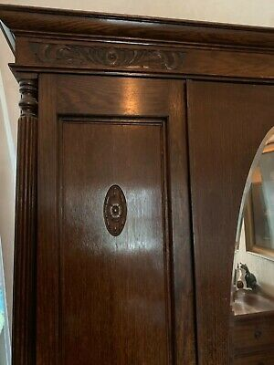 large Victorian wardrobe and dressing table, original
