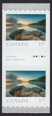 GUTTER pair = ALGONQUIN Park = FROM FAR AND WIDE = Coil MNH-VF Canada 2019