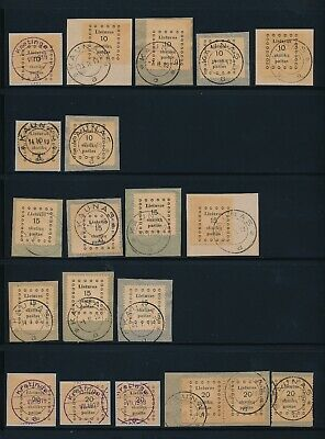 Lithuania. 1919. 2 stockpages with used stamps