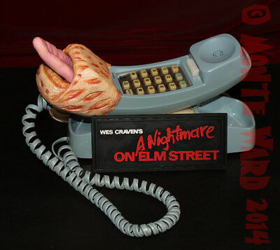 1:1 A Nightmare On Elm St Freddy Krueger Tongue Phone Movie Prop Sideshow ANOES