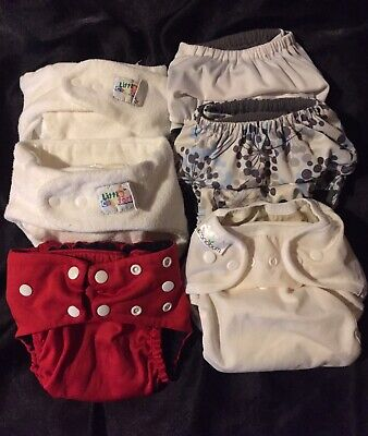 Lot of 6 Cloth Diapers with inserts!