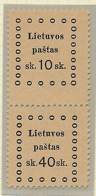 Lithuania. 1919. Pair with 2 different values - MNH #2