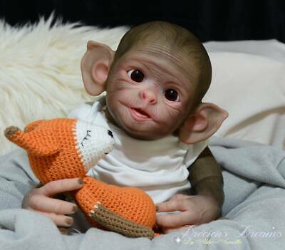 "BRAND NEW Reborn Doll Kit ""Cheeky Monkey"" Realistic Fake Baby girl NOT SILICONE"