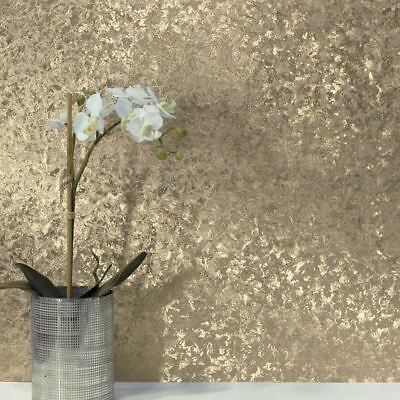 Crushed Velvet Foil Wallpaper Champagne Arthouse 294304 Feature Wall Decor New