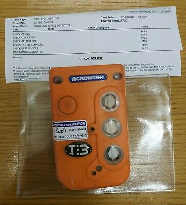 Crowncon T:3 Gas Detector   £300   - Calibrated 31 Jan 19 with new O2 Sensor