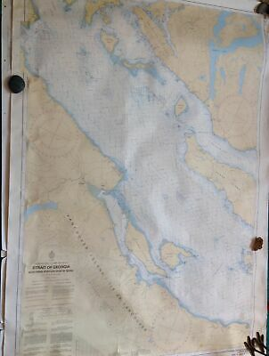Canadian Hydrographic Nautical Chart STRAIT of GEORGIA northern BC Vancouver map